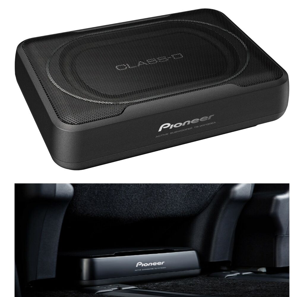 Pioneer ts wx120a 150 watt under seat amplified subwoofer for Space saving seating