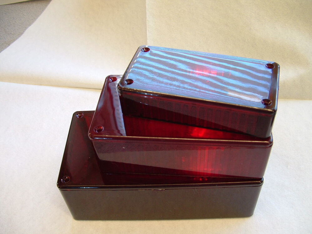 hammond red box translucent enclosure 191x110x61mm project