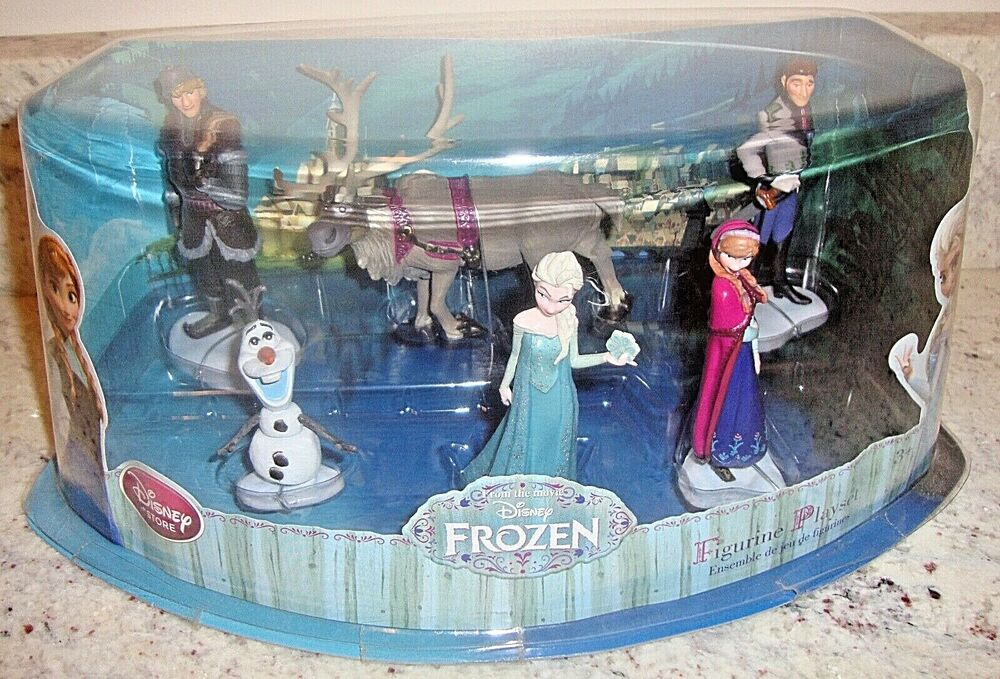 21 Figure Birthday Cakes: DISNEY STORE AUTHENTIC FROZEN 6 FIGURE PLAYSET/Birthday