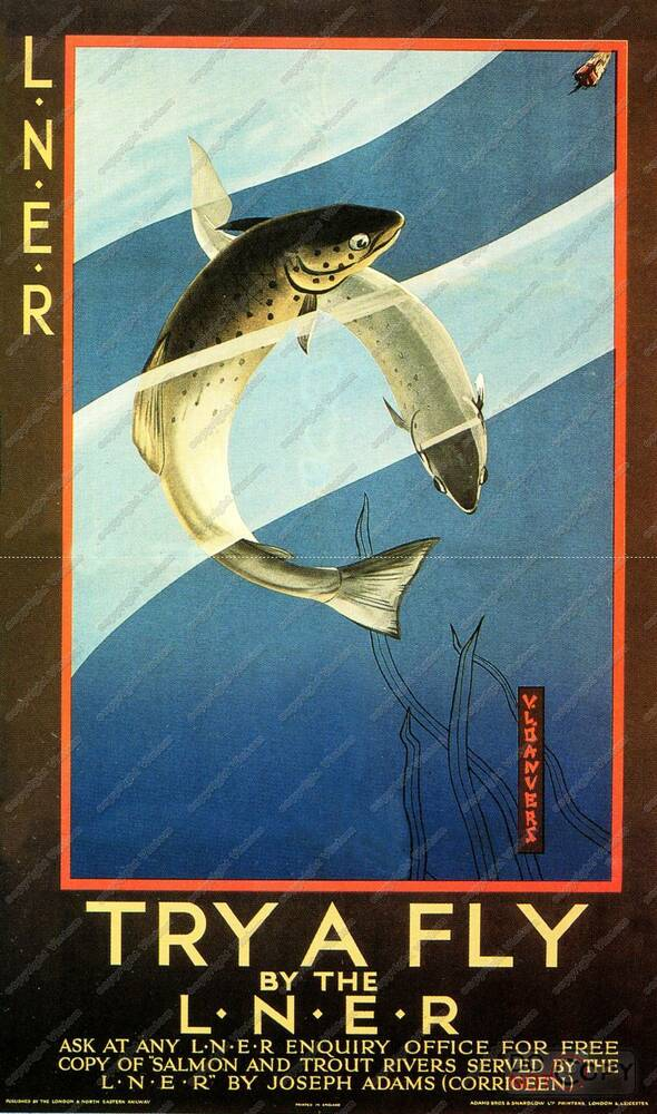 Try a fly fishing vintage advertising poster for Fly fishing posters