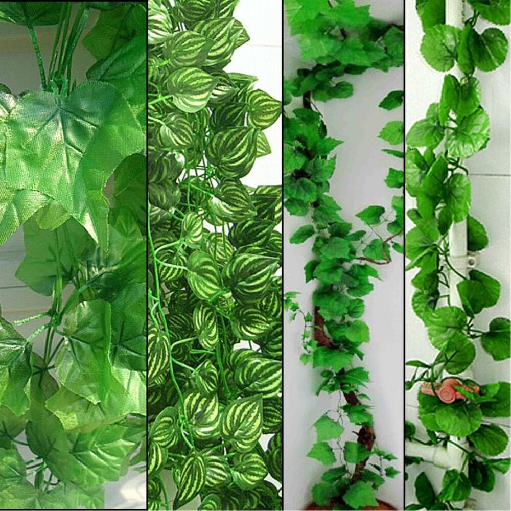 Artificial ivy vine green leaves leaf foliage plant for for Artificial leaves for decoration