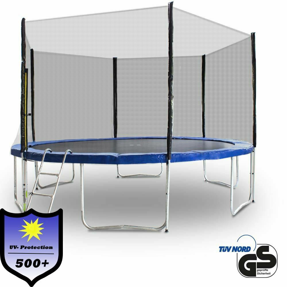 trampolin 400 outdoor gartentrampolin komplettset 4 00m 400 cm ebay. Black Bedroom Furniture Sets. Home Design Ideas