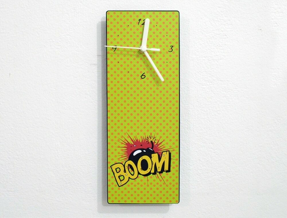 Pop art mass culture boom bomb wall clock ebay for Pop wall art