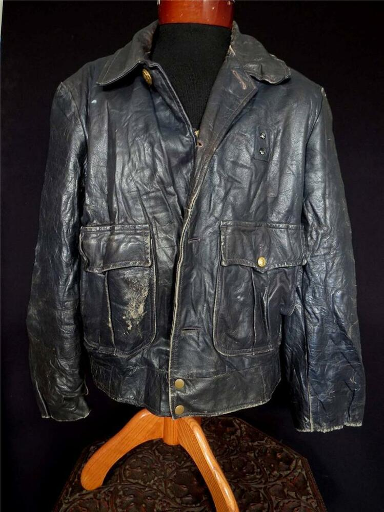 hercules summary_VERY RARE VINTAGE 1960S AUTHENTIC BLACK HEAVY LEATHER POLICE JACKET SIZE LARGE | eBay