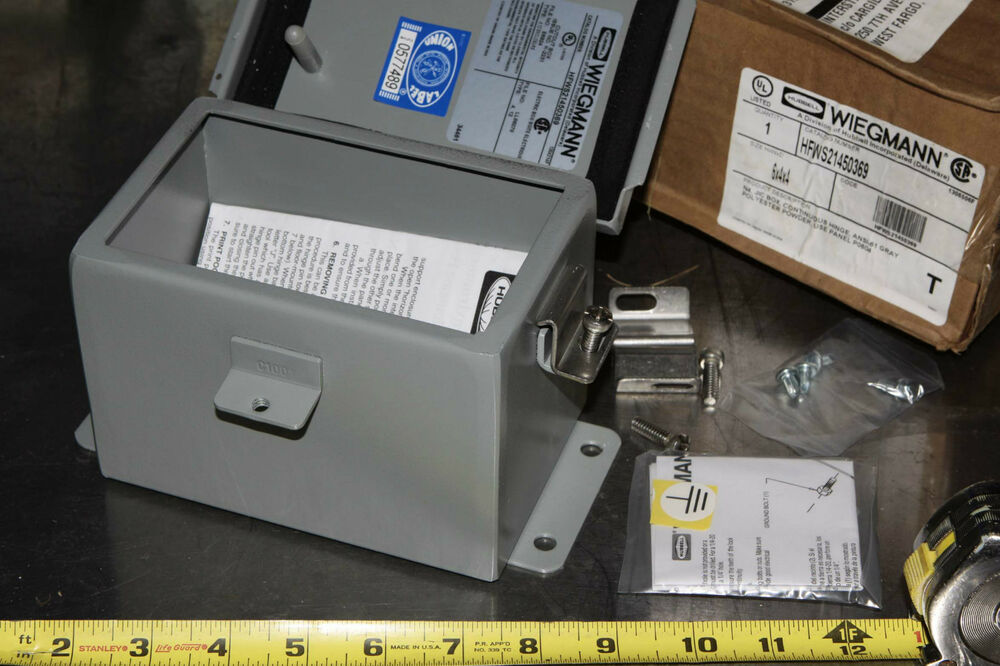 Hubbell Wiegmann 6x4x4 Wall Mount Hinged Enclosure