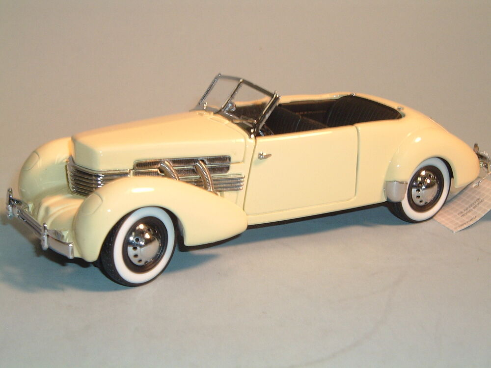 812 phaeton coupe yellow franklin mint 1 24 diecast with box ebay