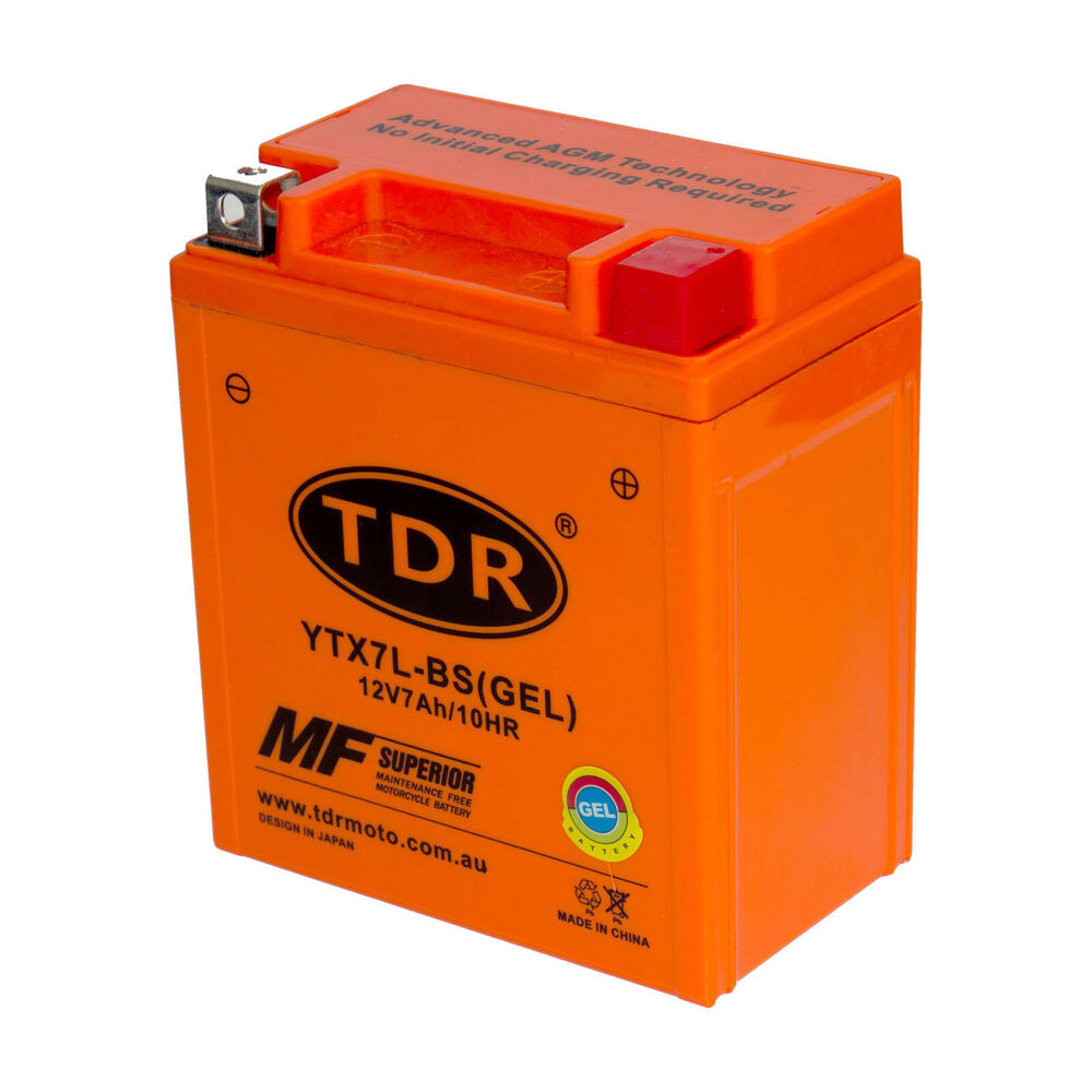 ytx7l-bs 12v 7ah gel motorcycle battery suzuki gz250 tu250xv