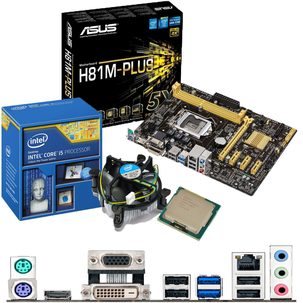 intel core i5 4690k 3 5ghz asus h81m plus motherboard. Black Bedroom Furniture Sets. Home Design Ideas