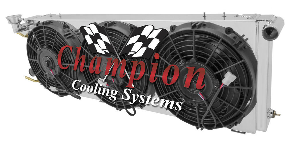 Details About 1991 2001 Jeep Cherokee 2 Row Champion Aluminum Radiator And Fan Shroud W 3 Fans
