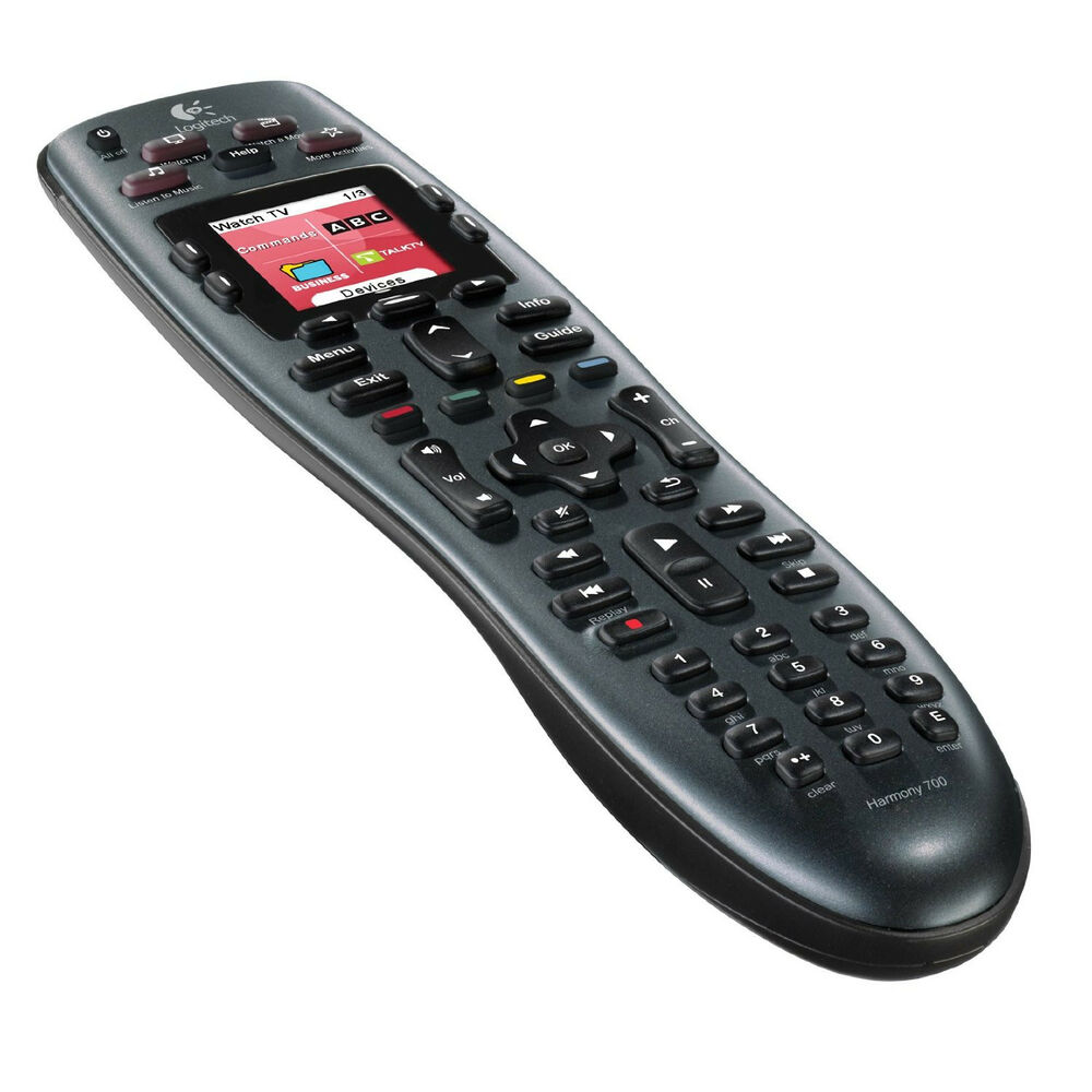 logitech harmony 700 universal remote control with color screen 9789785509861 ebay. Black Bedroom Furniture Sets. Home Design Ideas