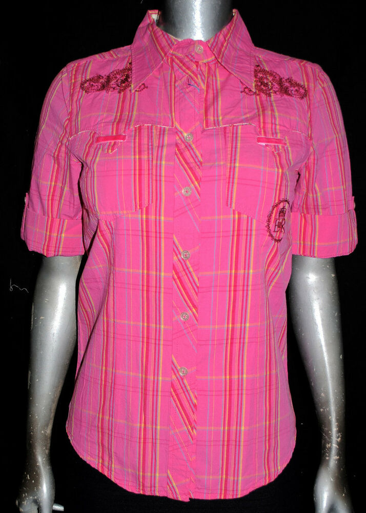 Nwt English Laundry Women Pink Short Sleeve Button Down