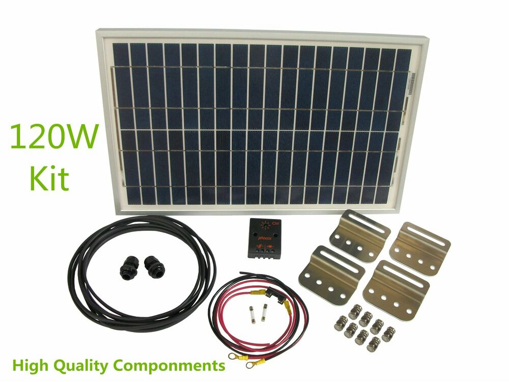 Rv Solar Battery Charger System : Battery charging system kit rv w v solar panel