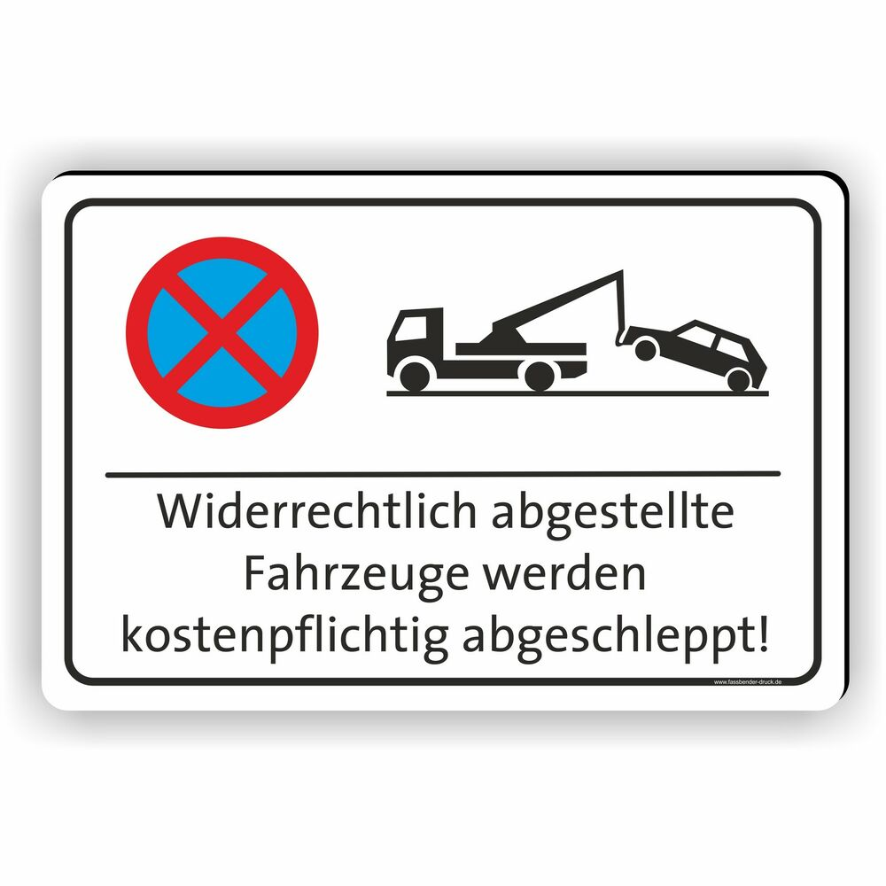 200x300mm parkverbot schild parken verboten hinweisschild abschleppen pv 001 ebay. Black Bedroom Furniture Sets. Home Design Ideas