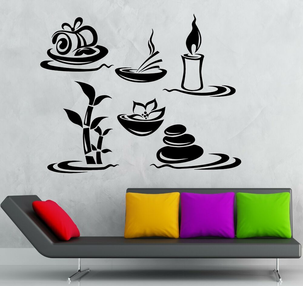Wall sticker vinyl decal beauty salon spa massage relax for Stickers salon