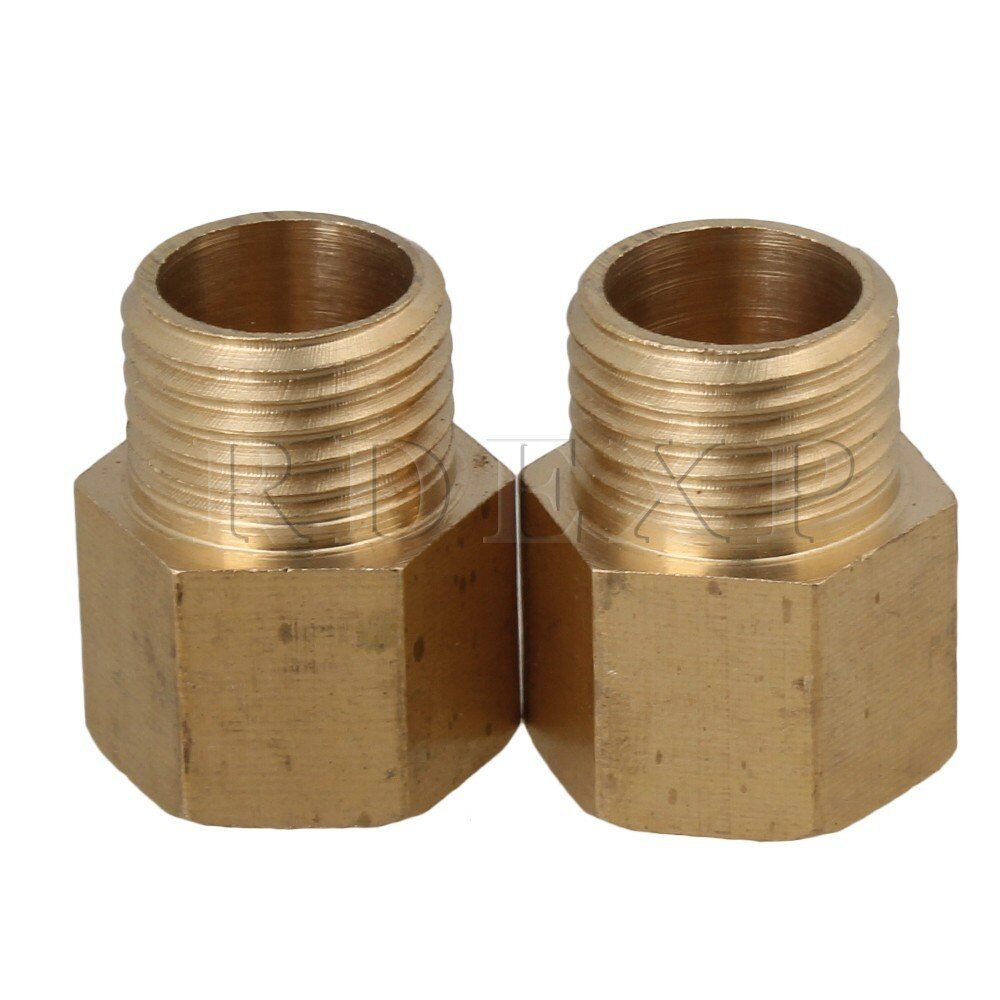 Pcs male female durable straight brass connector g