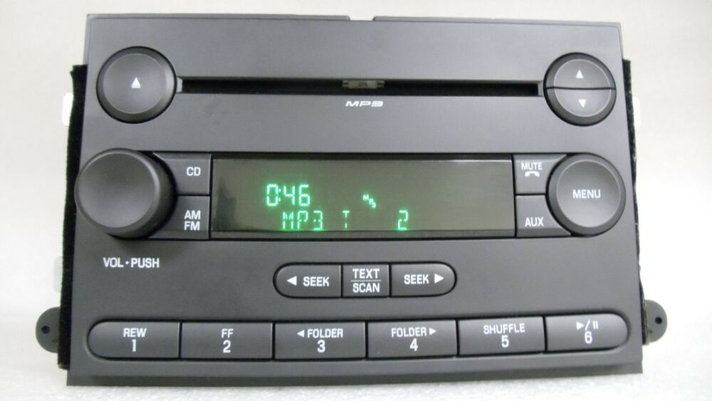 ford fusion mercury milan mp3 radio cd player 6e5t 18c869. Black Bedroom Furniture Sets. Home Design Ideas