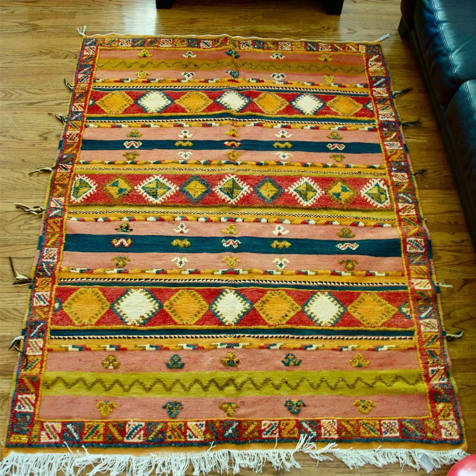 Beautiful Moroccan Handmade Kilim Rug