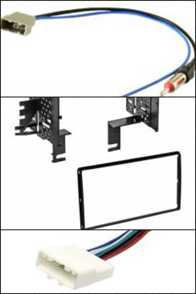 din radio dash kit stereo wire harness antenna adapter for select nissan ebay