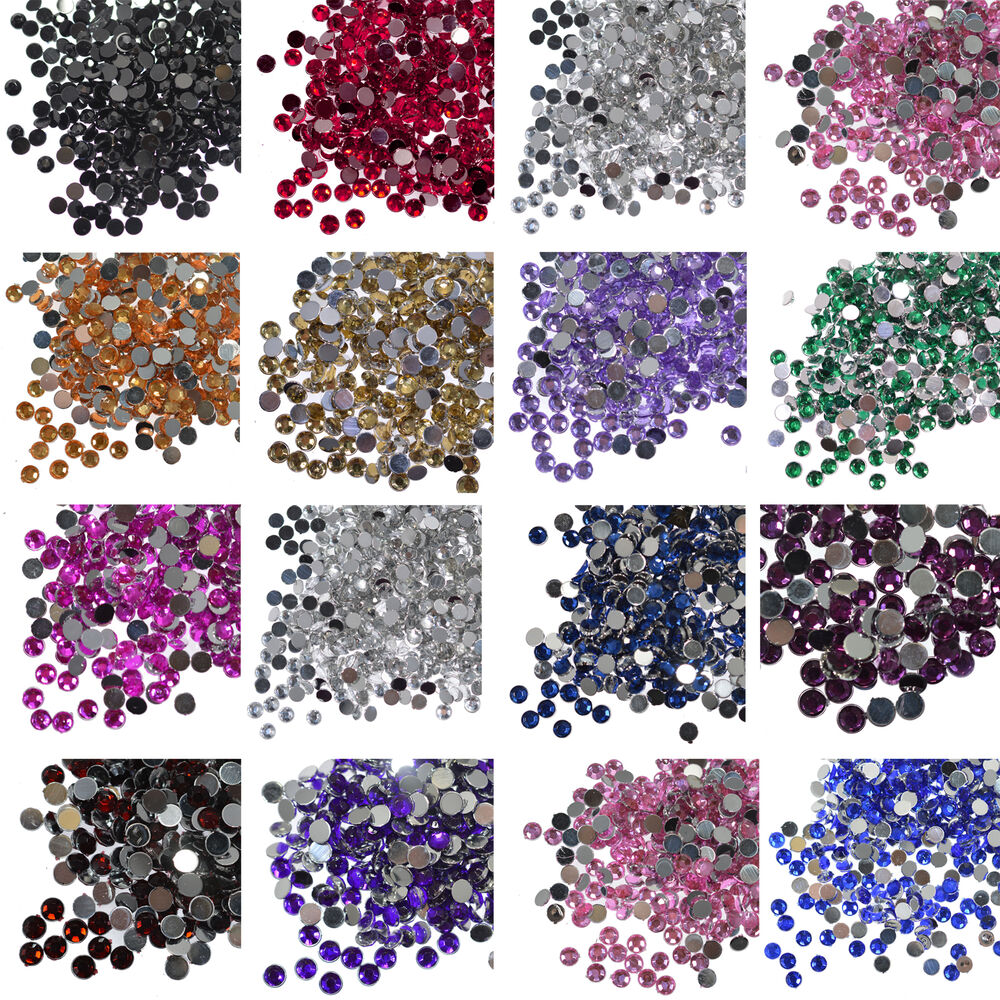 1000 crystal flat back rhinestones gems diamante bead nail for Rhinestone jewels for crafts