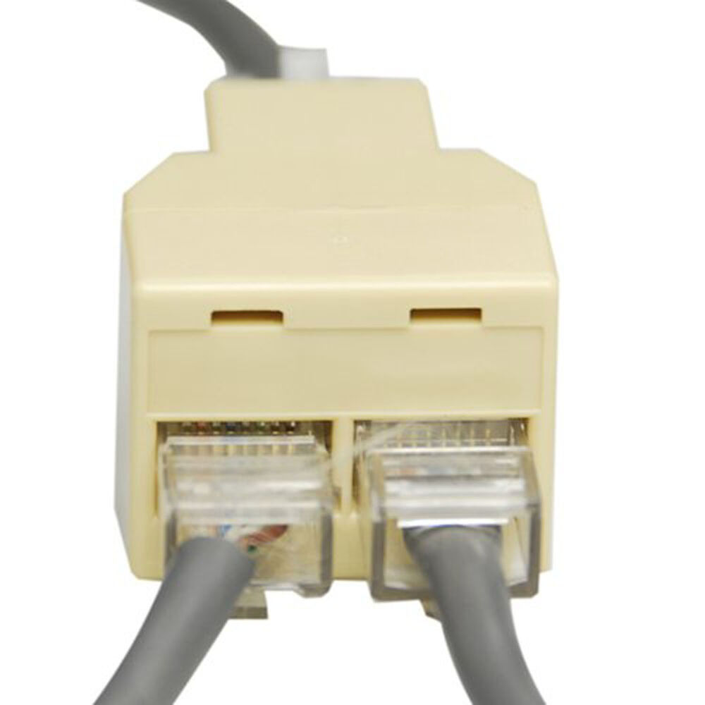 rj45 splitter y verteiler netzwerk lan isdn adapter ethernet patch kupplung neu ebay. Black Bedroom Furniture Sets. Home Design Ideas