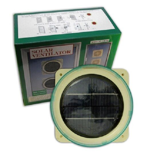 Solar powered fan ventilator domestic marine caravan helps - Solar powered extractor fan bathroom ...