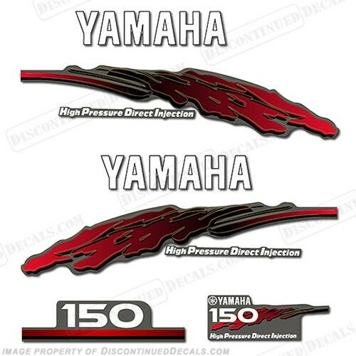 Yamaha 2001 outboard motor decal kit 150hp hpdi marine for Yamaha boat decals graphics