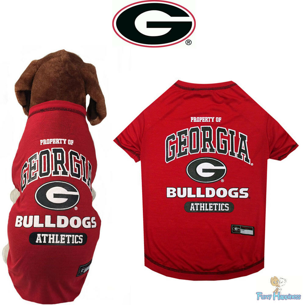georgia bulldog gear ncaa pet fan gear georgia bulldogs tee t shirt tank for 2518