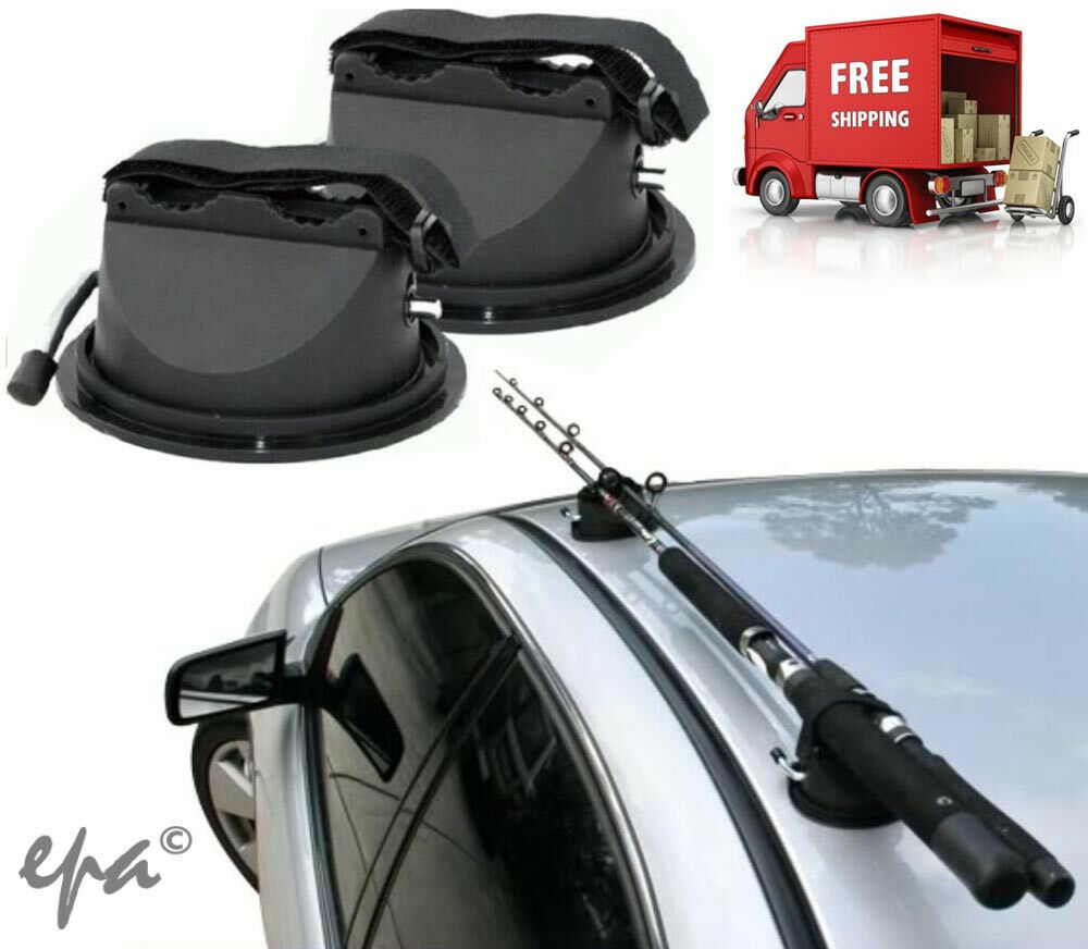 Fishing rod holders carriers suction mounting system for for Fishing pole holder for car