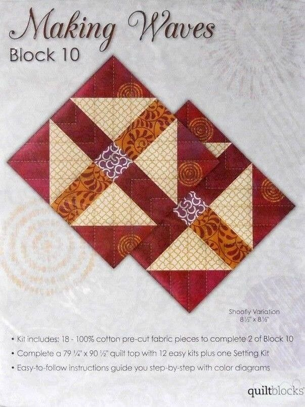 Jo Ann Quilt Block Of The Month Quot Making Waves Quot Block 10