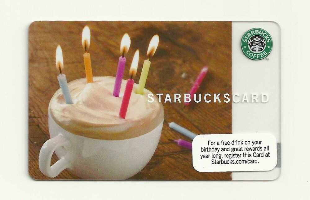 buy starbucks gift card starbucks gift card 2009 happy birthday new unused ebay 4562
