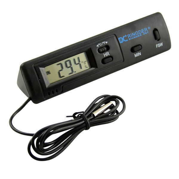 Indoor Outdoor Car Lcd Digital Thermometer Temperature Meter Clock Probe Sensor Ebay
