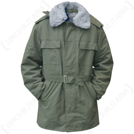 img-Czech M85 Olive Parka - Military Surplus Winter Army Coat - Removable Fleece