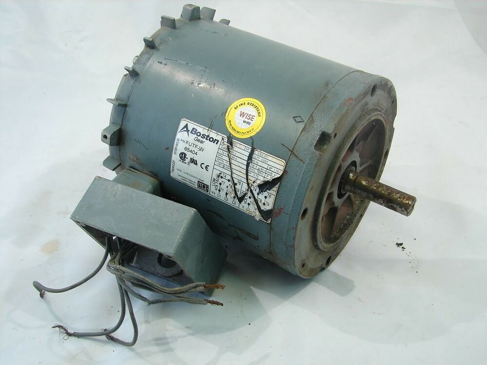 Boston Gear Futf W 65404 208 230 460v 1 2hp Ac Motor