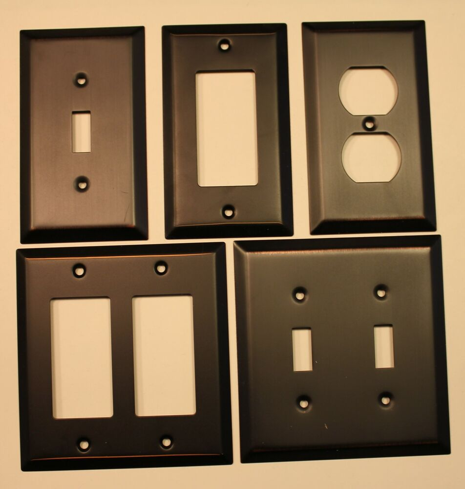 Metal Electrical Outlet Covers Oversized Outlet Covers: Switch Plate Outlet Cover Wall Rocker Oil Rubbed Bronze