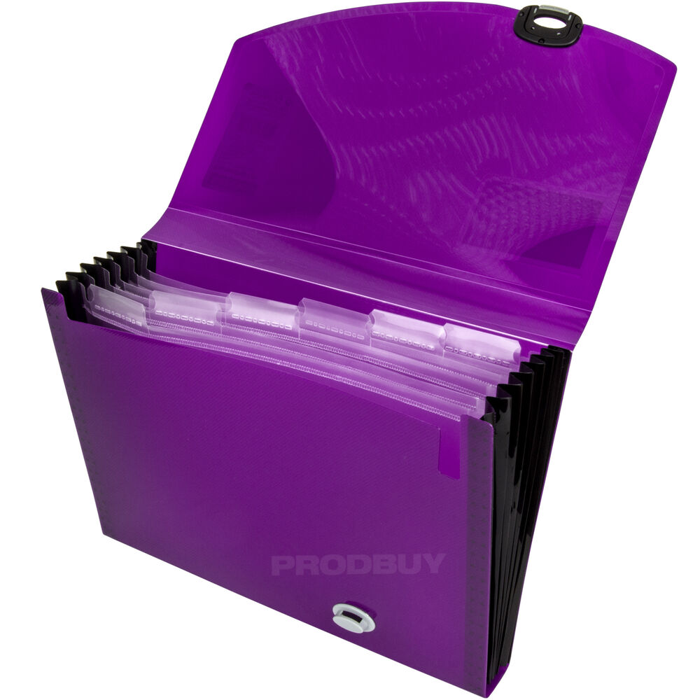 Rapesco Purple Polypropylene 7 Part Expanding File ...