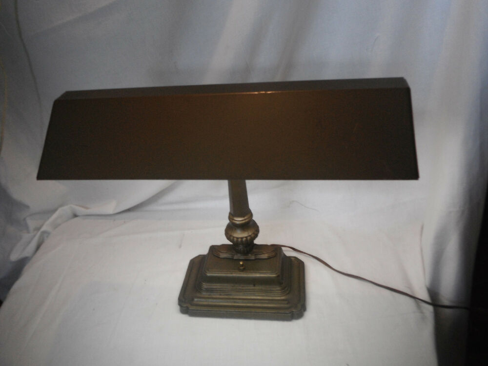 Vintage Banker S Lamp Brass Art Deco Style Industrial