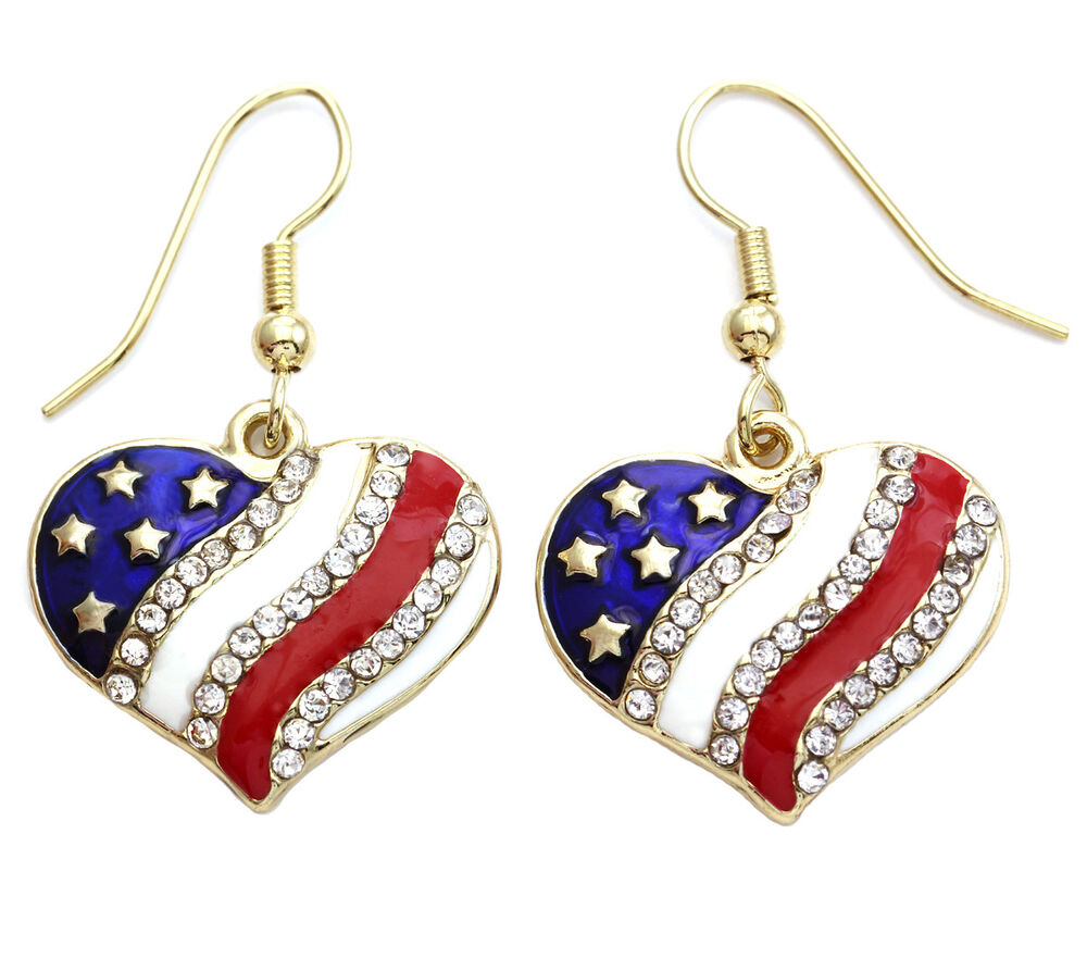 4th of july earrings independence day 4th of july american usa flag 2637