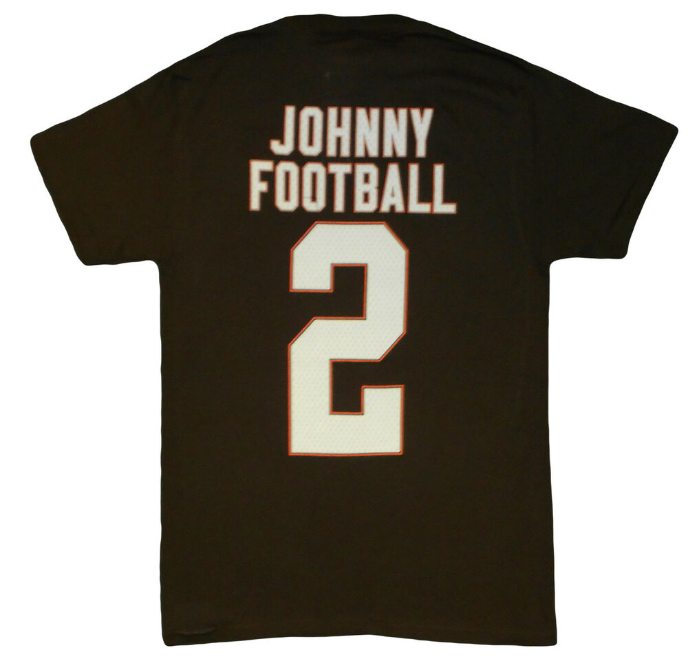 748c398ce761 Details about Cleveland Browns Johnny #2 Johnny Manziel T-Shirt Team Pride  Official Tee