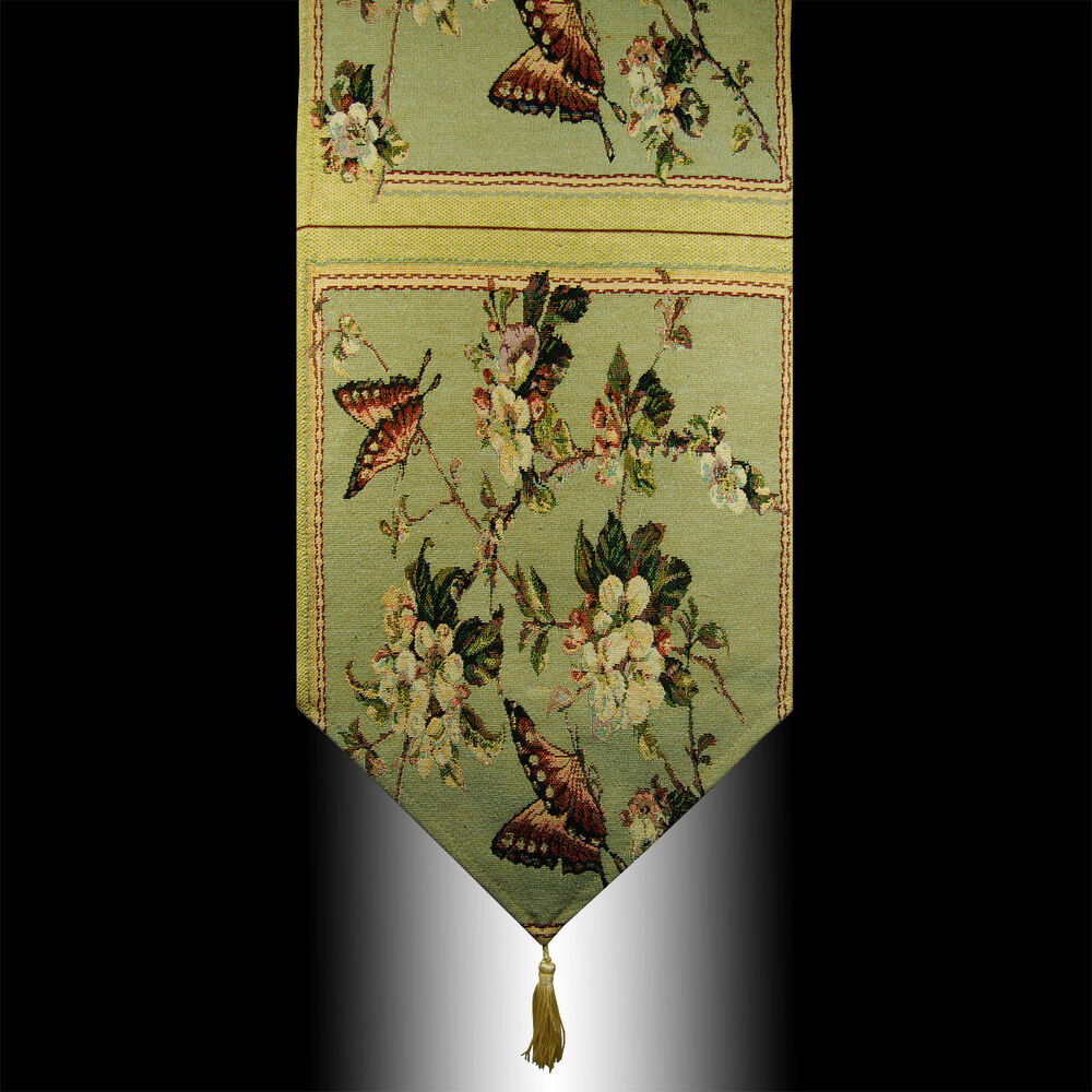 French Country Butterfly Flowers Tapestry Wedding Party