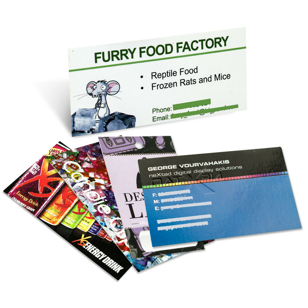 1000 custom full color paper business cards printing ebay for Business cards 1000