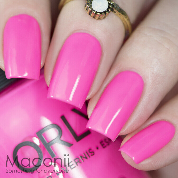 Fluorescent Neon Pink Nail Polish: Hot Pink Neon Summer Bright Nail