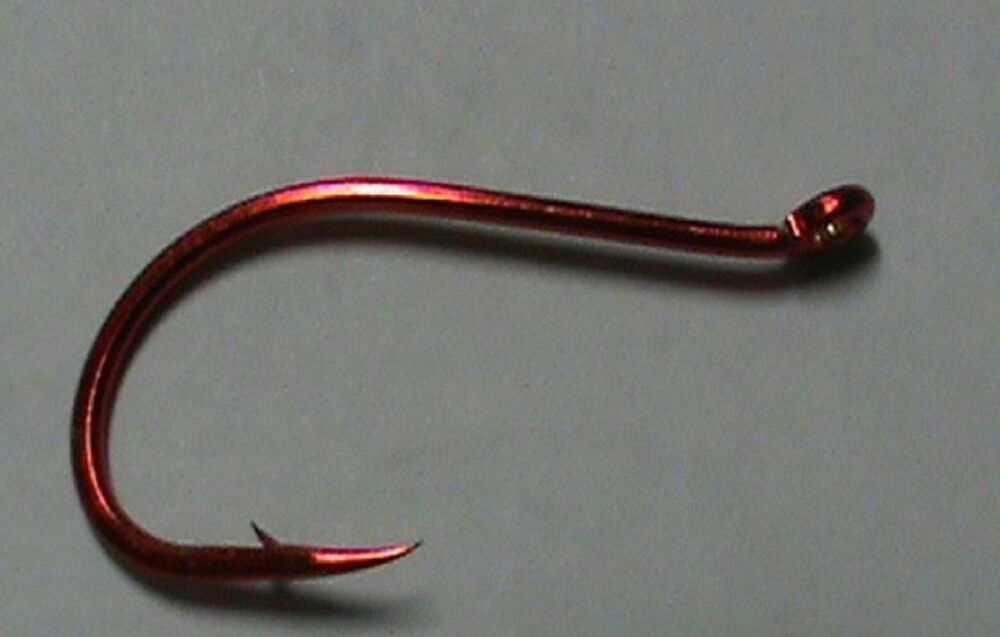 100 size 10 hooks barbless pft red octopus beak hook for Fishing hook sizes for trout