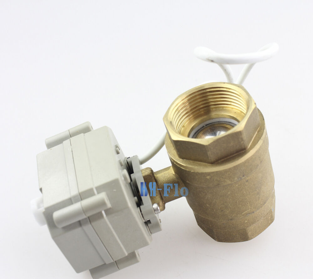 Hsh flo 5vdc 1 2 to 1 1 4 brass ss304 electrical valve for 1 motorized ball valve