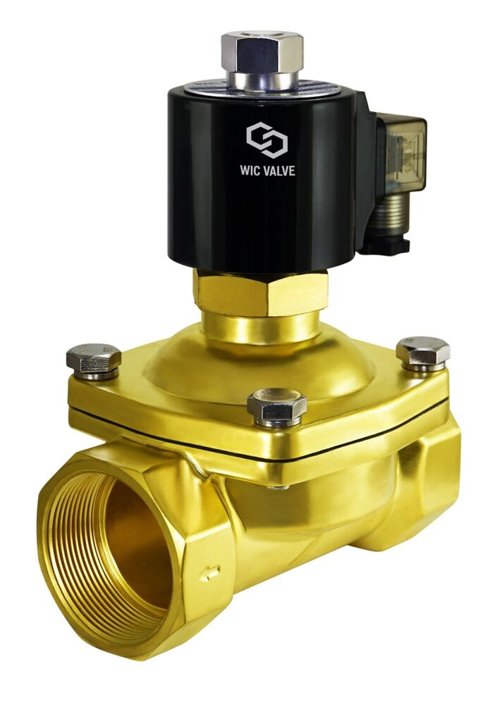 Normally Open Brass Zero Differential Electric Solenoid