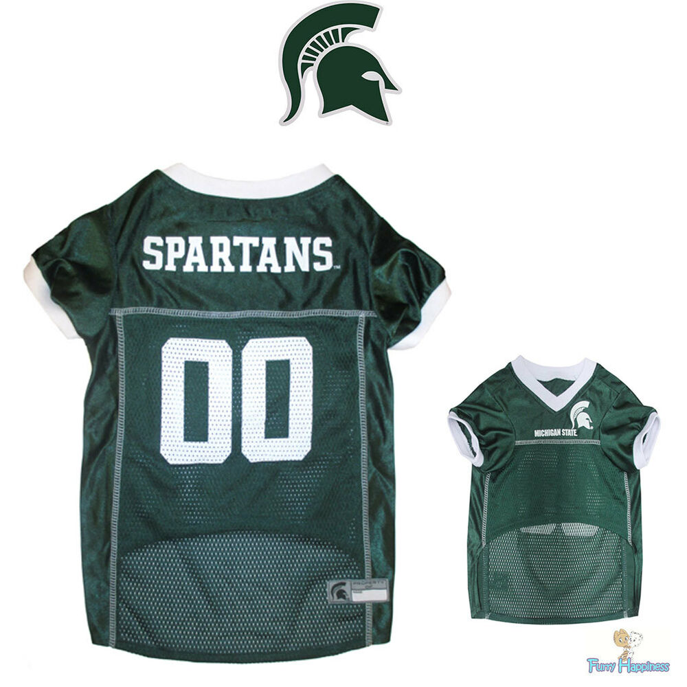 Details about NCAA Pet Fan Gear MICHIGAN STATE SPARTANS Dog Jersey Shirt  for Dogs XS-2XL XXL 70251a9c3