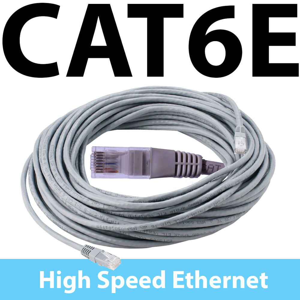 10m 20m 30m cat6e ethernet network cable rj45 ebay. Black Bedroom Furniture Sets. Home Design Ideas