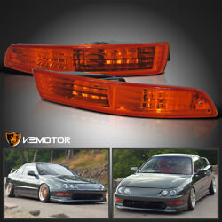 For 1994-1997 Acura Integra Amber Parking Signal Bumper Lights Lamps 1995 1996