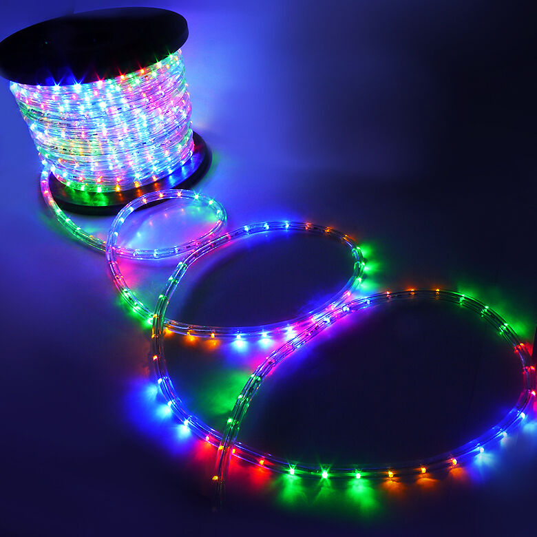 wire rgb red green blue led rope light outdoor home 110v lighting