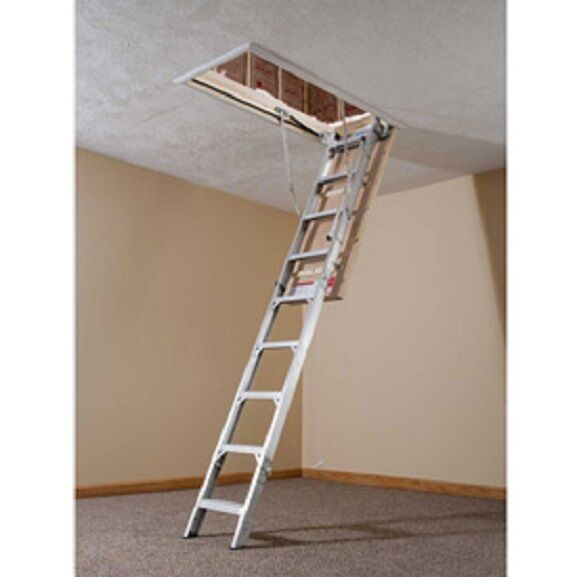 New Werner 174 Aluminum Energy Seal Attic Ladder 22 1 2 Quot W X