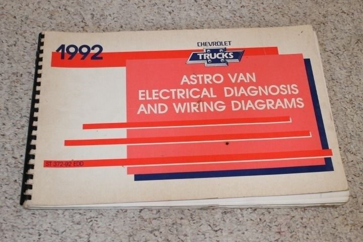 1992 chevrolet astro van electrical diagnosis  u0026 wiring